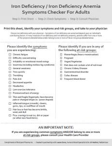 Adult Symptoms Checker